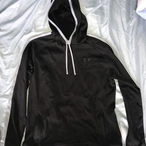 Black and grey striped Under Armour hoodie